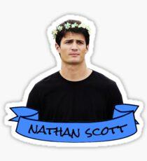 nathan scott flower crown sticker Sticker