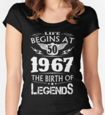 Life Begins At 50 1967 The Birth Of Legends Women's Fitted Scoop T-Shirt