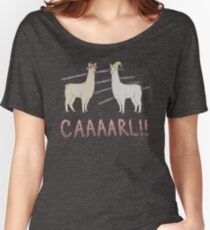 Llamas with Hats - Carl! Women's Relaxed Fit T-Shirt
