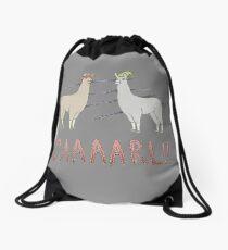 Llamas with Hats - Carl! Drawstring Bag