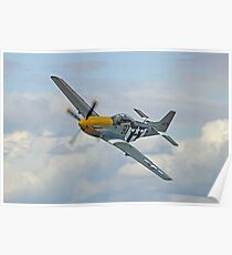 P51 Mustang Ferocious Frankie - Dunsfold 2014 Poster