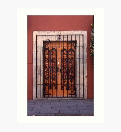 Double doors Oaxoca, Mexico Art Print