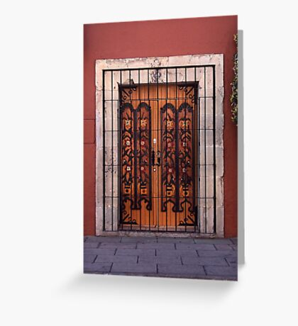 Double doors Oaxoca, Mexico Greeting Card