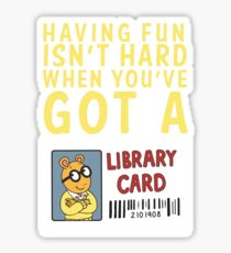 Arthur Library Card Sticker