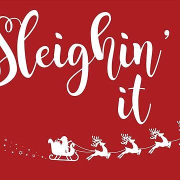 Sleighin' it!  by TayRobertsArt