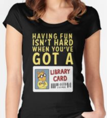 Arthur Library Card Women's Fitted Scoop T-Shirt