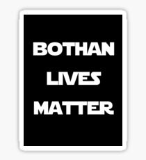 Bothan lives, White on black Sticker