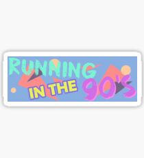 Running in the 90's Sticker Decal Slap 216mm Sticker