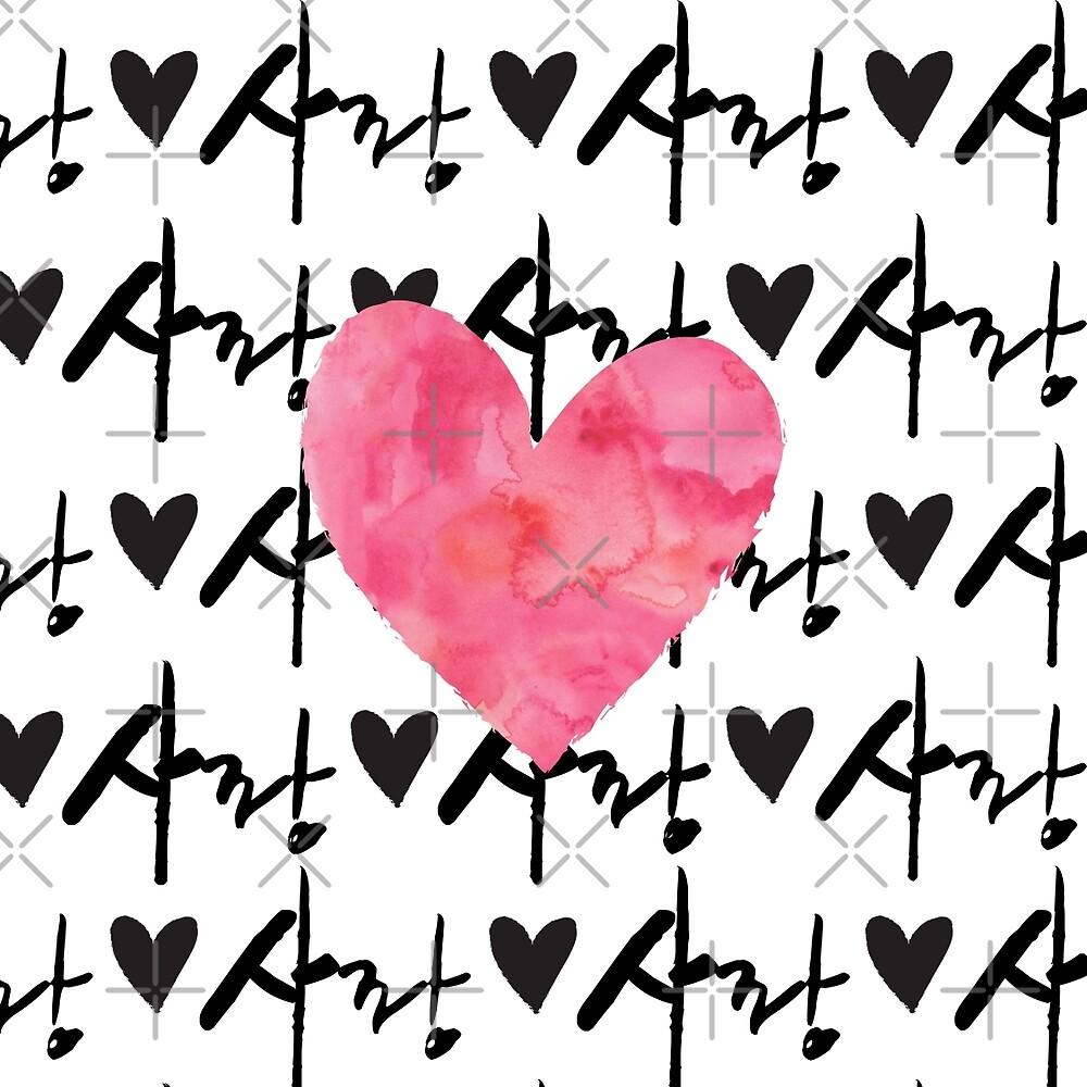 Sarang Love Heart Pink - Korean by sweetestirony