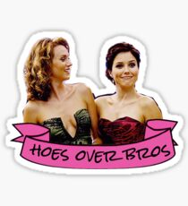 brooke peyton hoes over bros sticker Sticker