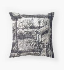 Morning through the Kitchen Window in Mordialloc, New Day Throw Pillow