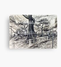 Unsettling, Windy Day at Mordialloc Foreshore Canvas Print