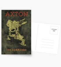 Axton Vintage Borderlands Graphic Postcards