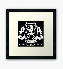 Asking Alexandria Family logo tshirt and hoodie Framed Print