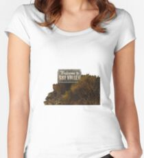 Welcome to Sky Valley - Signage Women's Fitted Scoop T-Shirt