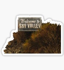 Welcome to Sky Valley - Signage Sticker