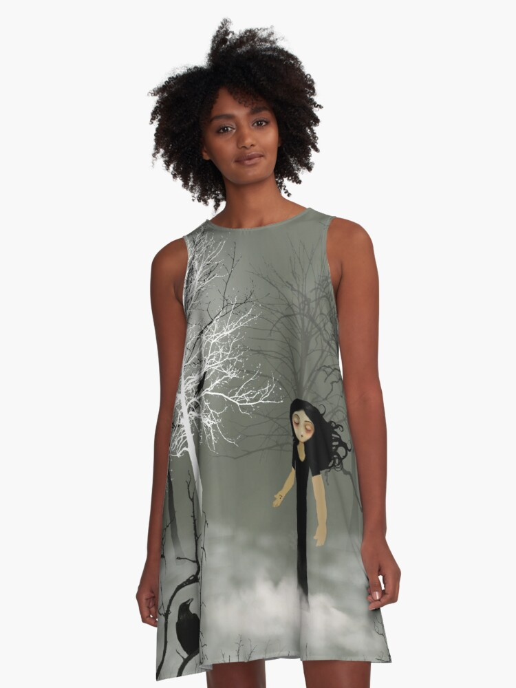 Sleep Walking A-Line Dress Front