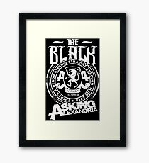 Asking Alexandria  the black album tshirts and hoodies Framed Print