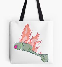 Bolsa de tela Kermit en fuego