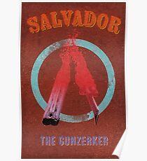 Salvador Vintage Borderlands Graphic Poster