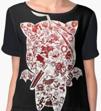 Final Fantasy Moogle-verse (red) Women's Chiffon Top