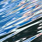 Blue Black Abstract Water by Brad Baker