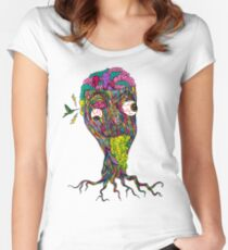 Nicotine Color Women's Fitted Scoop T-Shirt