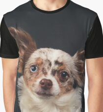 Chihuahua - Red merle on black / dog blue eye odd longhair cute bff friend tiny dog Graphic T-Shirt