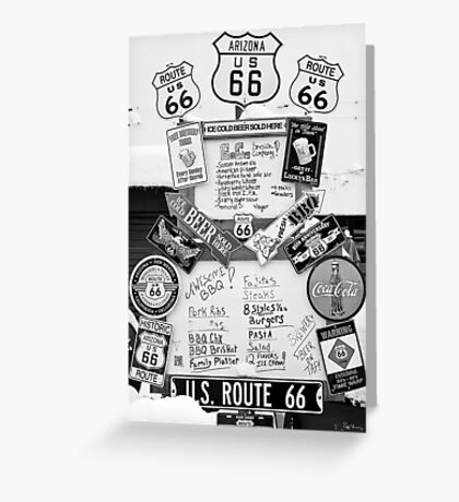 Route 66 Roadsigns Greeting Card