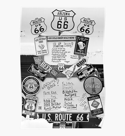 Route 66 Roadsigns Poster