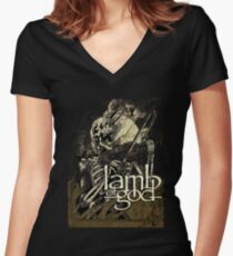 Lamb of God metal Women's Fitted V-Neck T-Shirt