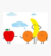 Funny Fruit Composition Comic Humor Situation Photographic Print