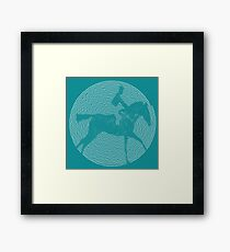 Muybridge Horse Spiral Art Framed Print