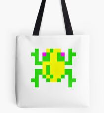 Frogger Pixel Frog Tote Shopping Bag