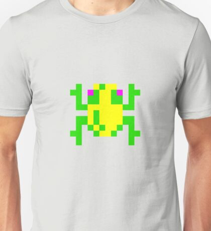 Frogger 8 Bit Frog Gamer T-shirt for Adults
