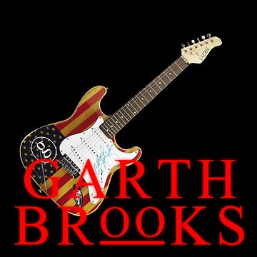concert style guitars garth brooks tshirt and poster by hujanairseger