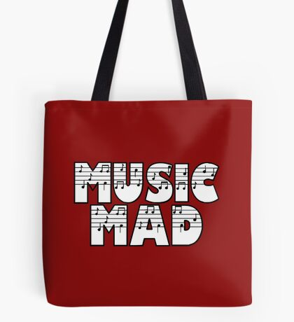 SOLD - MUSIC MAD Tote Bag