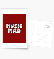 SOLD - MUSIC MAD Postcards