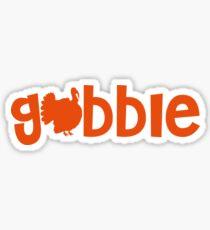 Gobble Cute Thanksgiving Turkey Fun Fall  Sticker