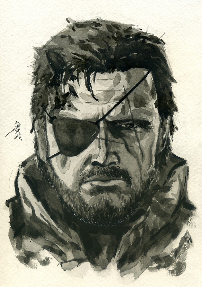 Snake from Metal Gear Solid 5: The Phantom Pain by taijmedia