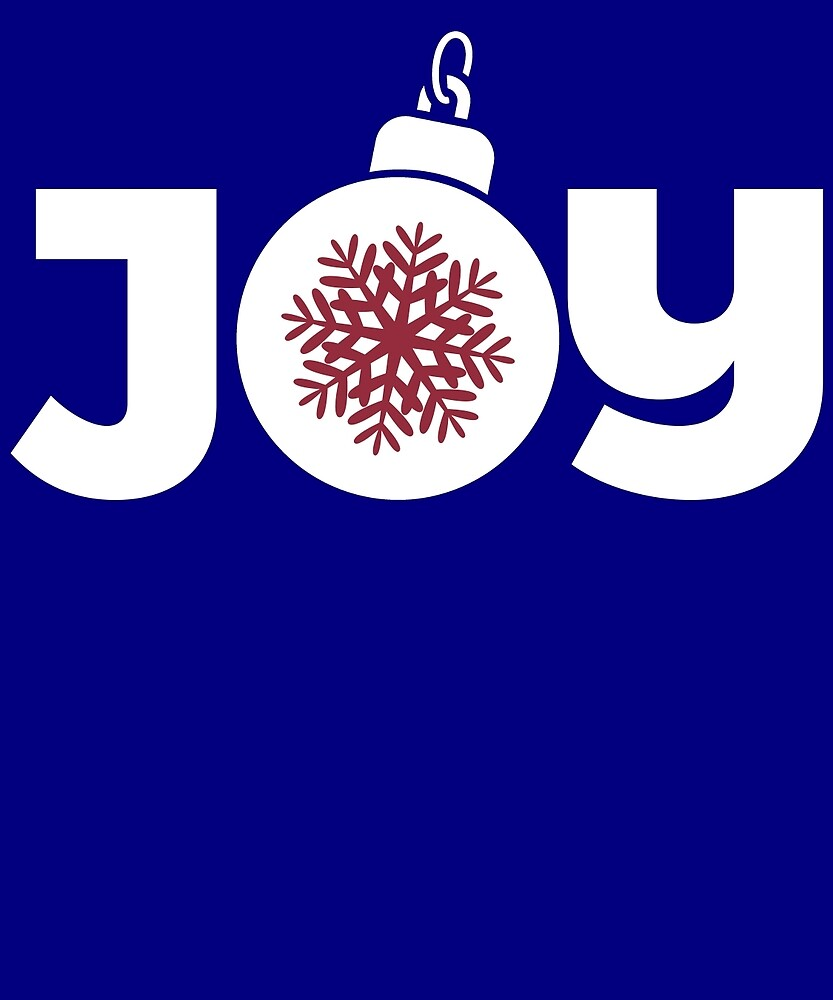 Joy Christmas Ornament Graphic  by AlwaysAwesome