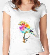 Artistic - IV - Colorful bird Women's Fitted Scoop T-Shirt