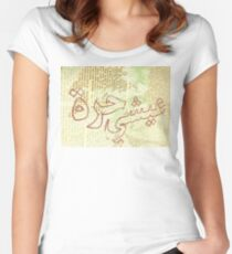 Live Free Arabic Women's Fitted Scoop T-Shirt
