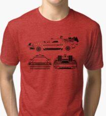 Delorean DMC Back to the Future Tri-blend T-Shirt