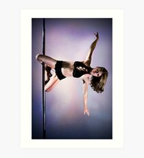 Pole Art - Knee hold II Art Print