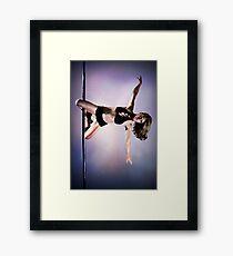 Pole Art - Knee hold II Framed Print