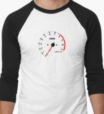 NISSAN N カ ン ン ン (NISSAN skyline) R32 NISMO rev counter Men's Baseball ¾ T-Shirt