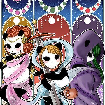 Las tres diosas de holocubierta