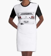 Nissan Skyline R33 GT-R (back) Graphic T-Shirt Dress