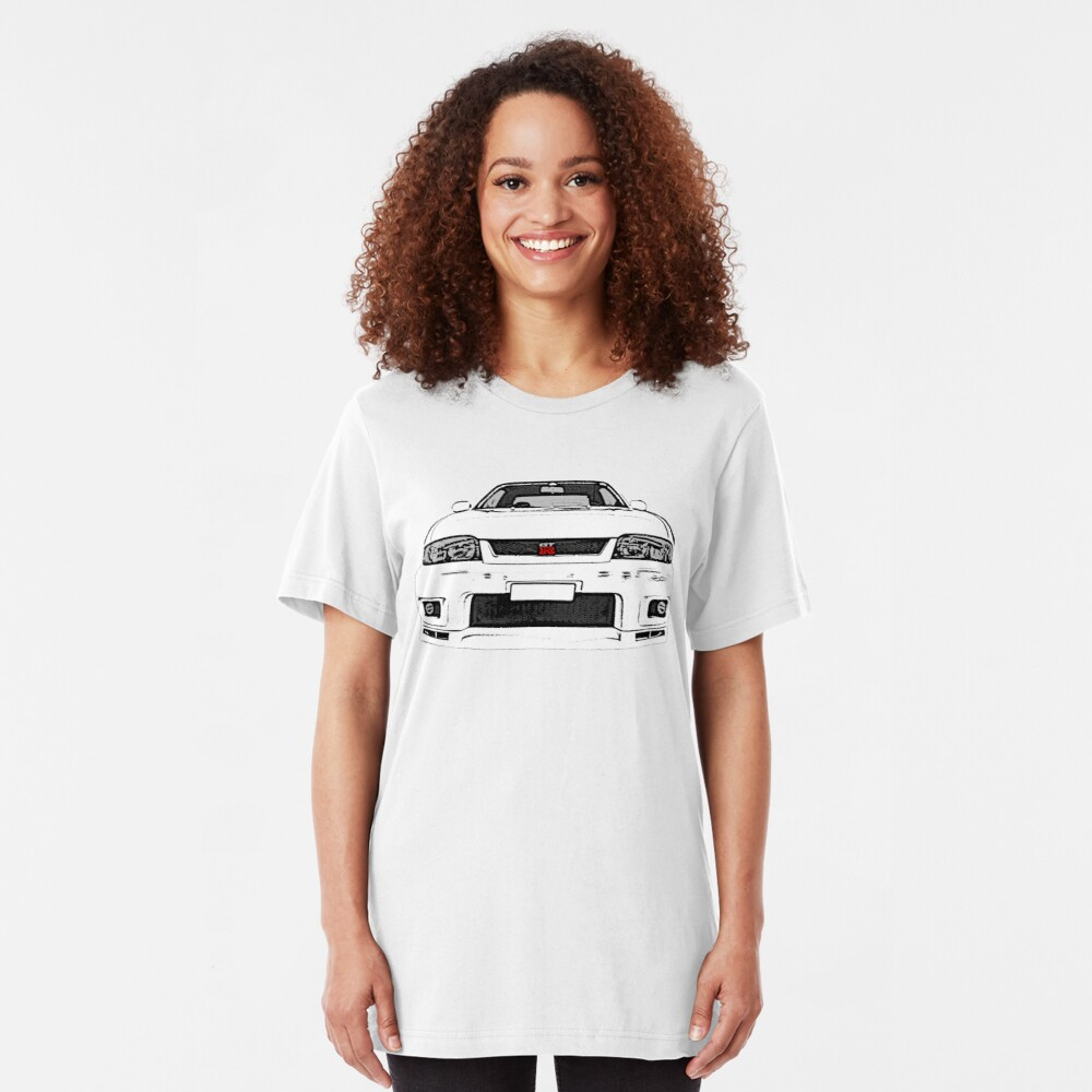 Nissan Skyline R33 GT-R (front) Slim Fit T-Shirt